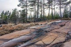 Primavera septentrional fría en el lago Ladoga imágenes de archivo libres de regalías