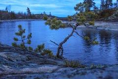 Primavera septentrional fría en el lago Ladoga imagen de archivo libre de regalías