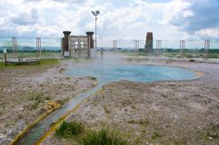 Primavera termal de Bullicame cerca de Viterbo Italia Fotografía de archivo libre de regalías