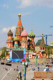 Primavera y Día del Trabajo en centro de ciudad de Moscú. Fotos de archivo