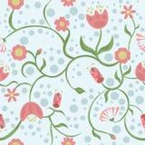Primavera y verano y flores todo alrededor libre illustration