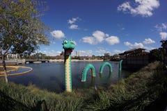 Primavere di Disney del mostro di Lego Loch Ness Fotografie Stock Libere da Diritti