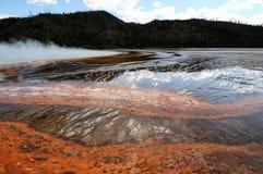 Primavere e sfiati di Yellowstone Immagini Stock