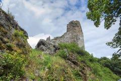 Primda城堡废墟  图库摄影