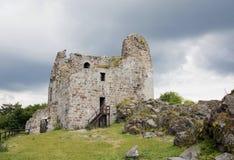 Primda城堡废墟  免版税库存图片