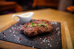 Prime Black Angus New York strip steak Royalty Free Stock Images
