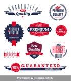 Prime et étiquettes et emblèmes de qualité Photos libres de droits
