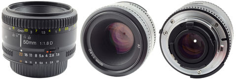 Prime Lens. 50mm Prime Lens Used On Digital Cameras Royalty Free Stock Photos