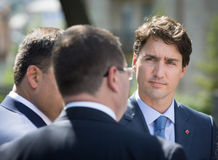 Prime Minister of Canada Justin Trudeau. KIEV, UKRAINE - Jul 11, 2016: Prime Minister of Canada Justin Trudeau during his official visit to Kiev, Ukraine royalty free stock photos