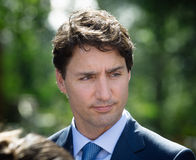 Prime Minister of Canada Justin Trudeau. KIEV, UKRAINE - Jul 11, 2016: Prime Minister of Canada Justin Trudeau during his official visit to Kiev, Ukraine stock images
