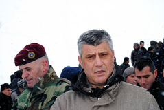 Prime Minister Hashim Thaci in Restelica Stock Image