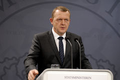 PRIME MINISTER HOLDS PRESS CONFERENCE Royalty Free Stock Images