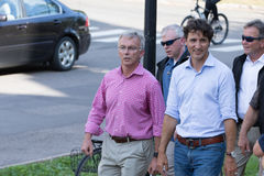 Prime Minister Justin Trudeau Walking Stock Photos