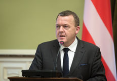 Prime Minister of the Kingdom of Denmark Lars Lokke Rasmussen Royalty Free Stock Photo
