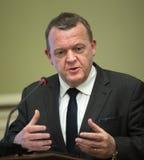 Prime Minister of the Kingdom of Denmark Lars Lokke Rasmussen Stock Image