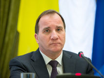 Prime Minister of the Kingdom of Sweden Stefan Lofven Royalty Free Stock Photo