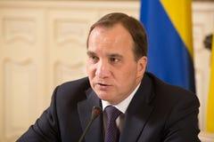 Prime Minister of the Kingdom of Sweden Stefan Lofven Royalty Free Stock Image