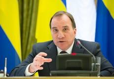Prime Minister of the Kingdom of Sweden Stefan Lofven Stock Photo