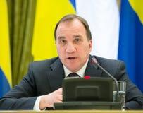 Prime Minister of the Kingdom of Sweden Stefan Lofven Stock Image