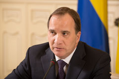 Prime Minister of the Kingdom of Sweden Stefan Lofven Royalty Free Stock Photos