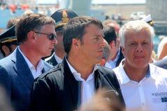 Prime Minister Matteo Renzi and Costa Concordia Royalty Free Stock Photo