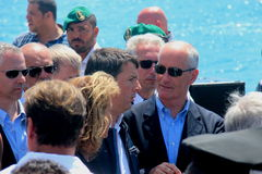 Prime Minister Matteo Renzi and Costa Concordia Stock Photography