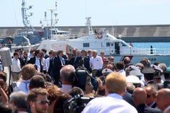 Prime Minister Matteo Renzi and Costa Concordia Royalty Free Stock Photos