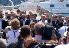 Prime Minister Matteo Renzi and Costa Concordia Royalty Free Stock Photography