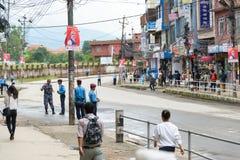 Prime Minister Narendra Modi arrives in Kathmandu Stock Photos