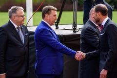 Free Prime Minister Of Latvia Maris Kucinskis And His Royal Highness Crown Prince Haakon Royalty Free Stock Photography - 115031817