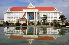 Prime Minister Office building, Vientiane, Laos Royalty Free Stock Photo