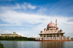 Prime Minister Office and Masjid Putrajaya Stock Image