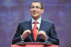 Prime minister of Romania Victor Ponta body language during speech Stock Photos