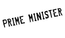 Prime Minister rubber stamp Royalty Free Stock Images