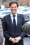 Prime minister. Rutte of the Netherlands laughing at an interview Stock Photography