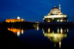 Prime Minister's Office and Masjid Putrajaya Royalty Free Stock Image