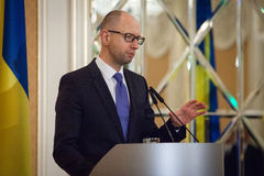 Prime Minister of Ukraine Arseniy Yatsenyuk Royalty Free Stock Image