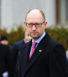 Prime Minister Ukraine Arseniy Yatsenyuk Stock Photos