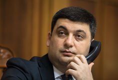Prime Minister of Ukraine Vladimir Groisman Stock Photography