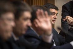 Prime Minister of Ukraine Vladimir Groisman Stock Images