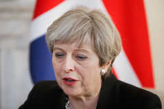 Prime Minister of the United Kingdom Theresa May stock photo