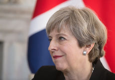 Prime Minister of the United Kingdom Theresa May. LONDON, UK - Apr 10, 2017: Prime Minister of the United Kingdom Theresa May during an official meeting with the Royalty Free Stock Photography