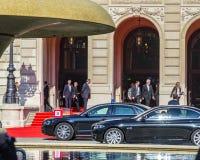 Prime minister Winfried Kretschmann leaves the official celebrat Stock Images