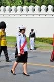 Prime Minister, Yingluck Shinawatra marching Stock Image