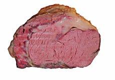 Prime rib. Roasted prime rib isolated on white royalty free stock image