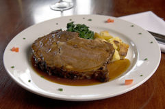 Free Prime Rib And Spinach Stock Images - 684674