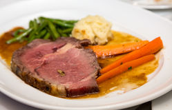 Prime Rib Dinner Royalty Free Stock Photos
