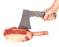Prime rib steak cut. Prime rib steak isolated on white background Stock Images