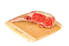 Prime rib steak cut. Prime rib steak isolated on white background Stock Photo