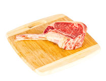 Prime rib steak cut. Prime rib steak isolated on white background Stock Photography